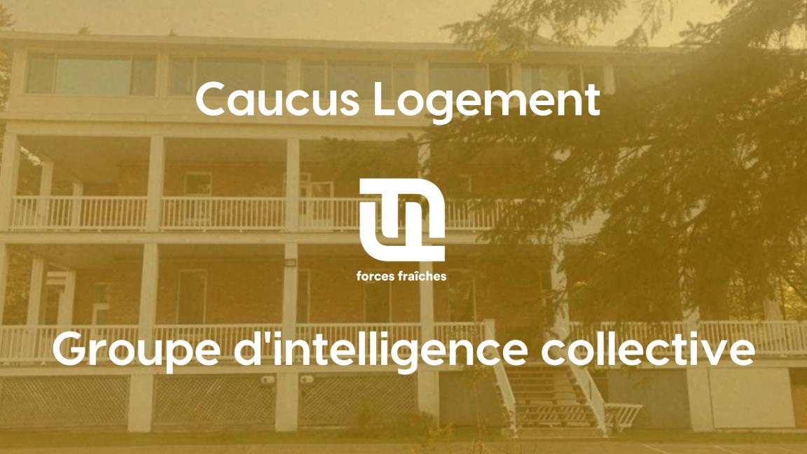 Caucus Logement - Invité: Samuel Gervais de Foncier solidaire