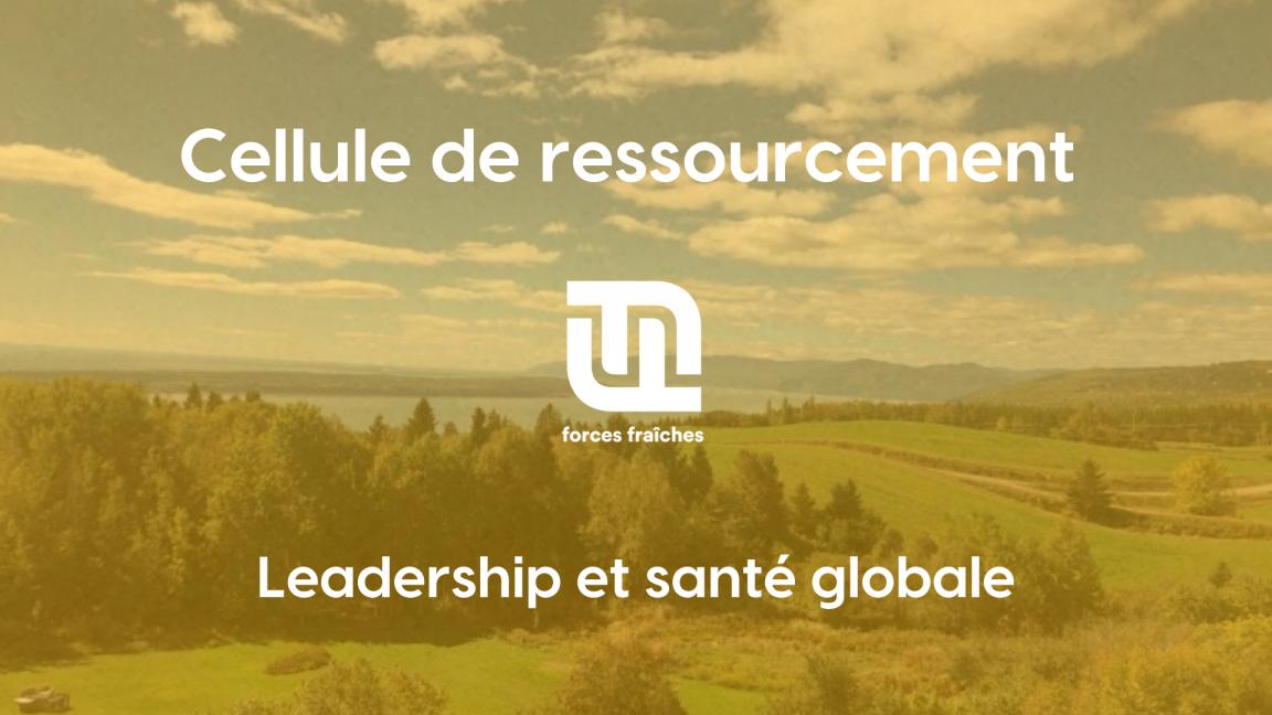 Cellule de ressourcement Forces fraîches - Cercle de codéveloppement en leadership et santé globale pour porteurs de projets en région