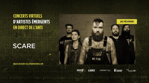 Scare - Concert virtuel en direct de L'Anti Bar & Spectacles