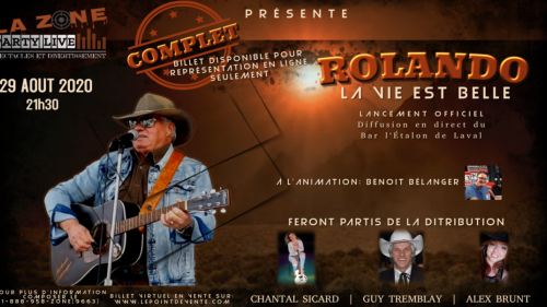 Lancement d'album La vie est belle - Rolando