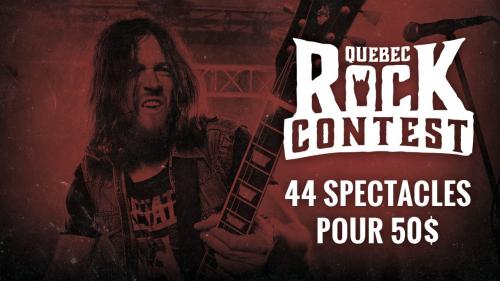 Quebec Rock Contest 2020 - Laissez-Passer 44 soirs (50$)