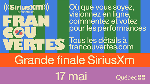 Grande finale SiriusXM - spectacle virtuel | Francouvertes 2021