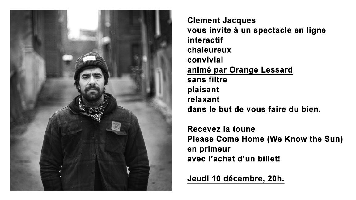 CLEMENT JACQUES - SHOW EN LIGNE INTERACTIF