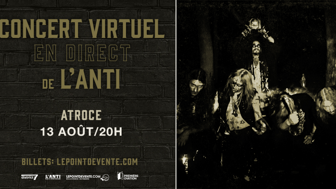 ATROCE - CONCERT VIRTUEL EN DIRECT