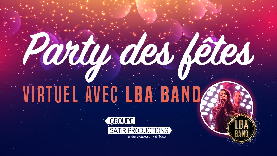 Party des fêtes virtuel avec LBA Band