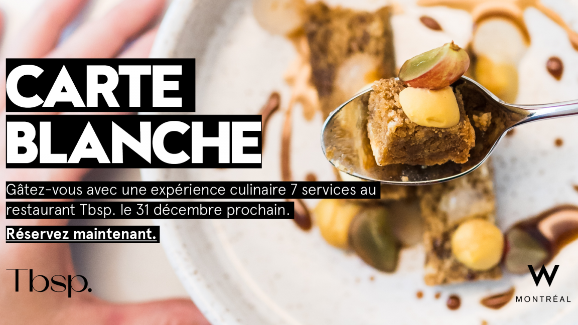 31 Dec - Carte Blanche au Tbsp.