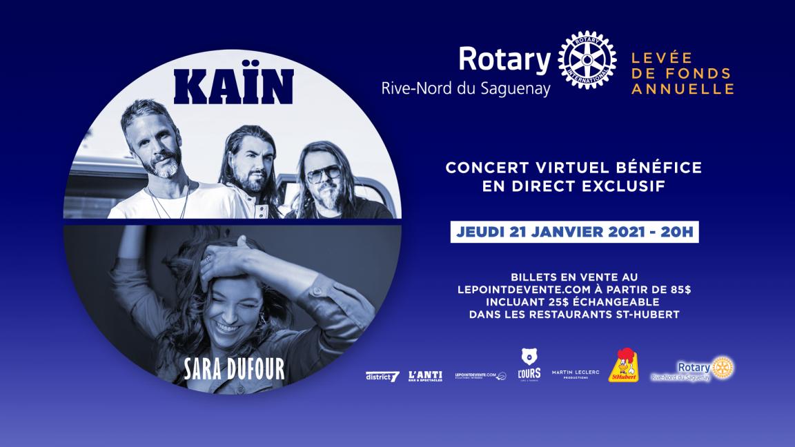 CLUB ROTARY RIVE-NORD DU SAGUENAY - LEVÉE DE FONDS ANNUELLE